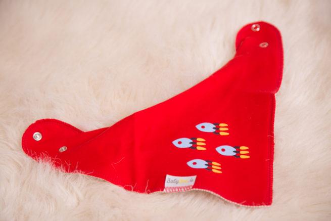 Red Rockets Bandana Bib
