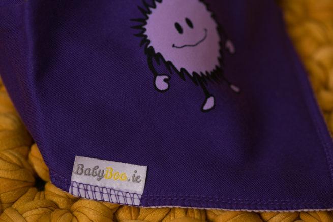 Purple monster bandana bib
