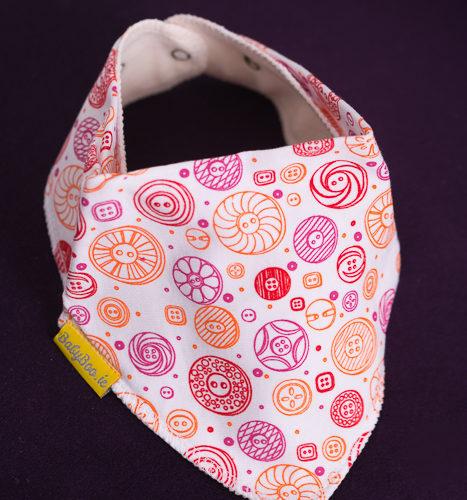 buttons bandana bib