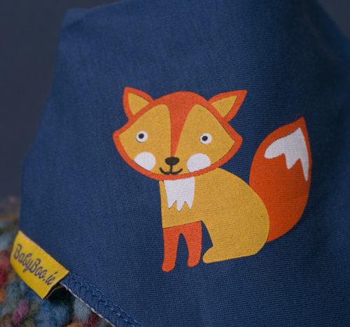 fox bandana bib
