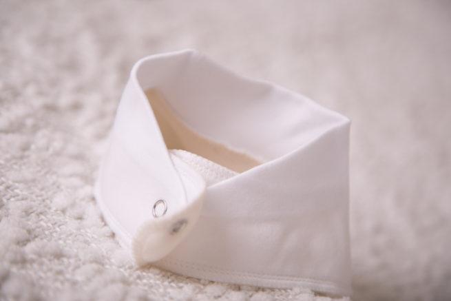plain white bandana bib