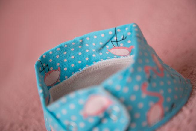 turquoise flamingo bandana bib