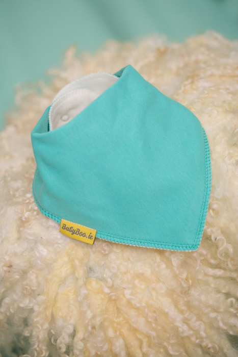sea green bandana bib