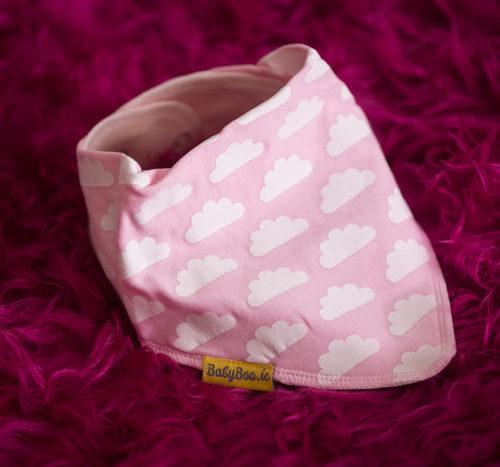 pink clouds bandana bib