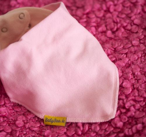 baby pink bandana bib