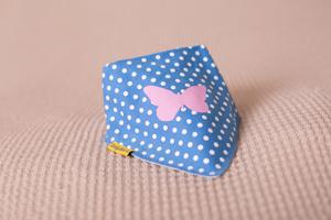 polka butterfly print bandana bib