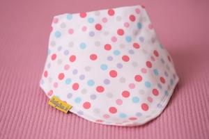 lovely polka print bandana bib