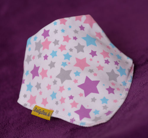 pink and purple superstars bib