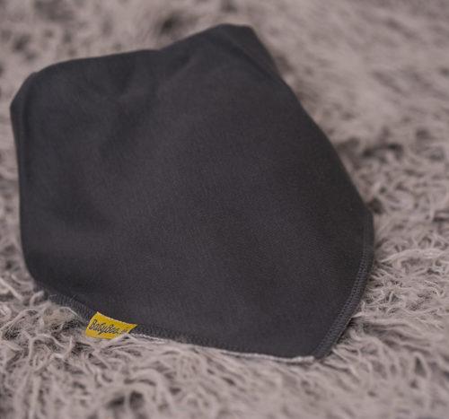 larger grey bandana bib