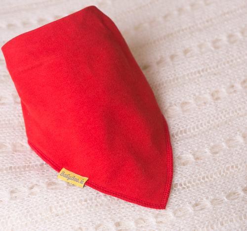 large red bandana bib