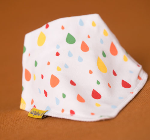 raindrops bandana bib