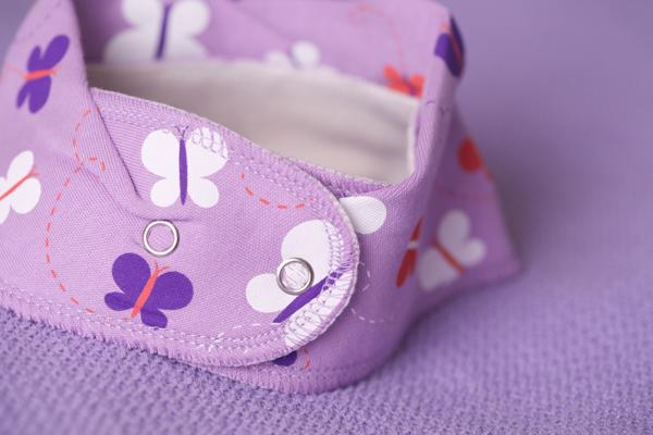 lilac butterfly bandana bib