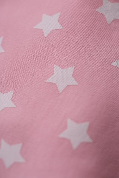 pink stars bandana bib