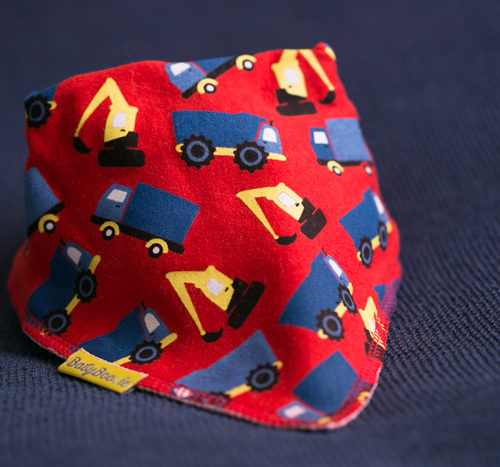 Red Trucks Bandana Bib