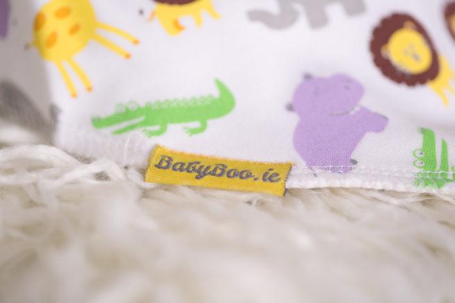 jungle print bandana bib