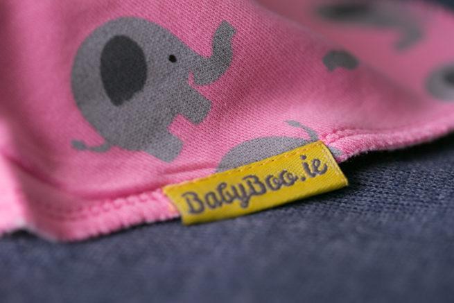 pink elephant bandana bib