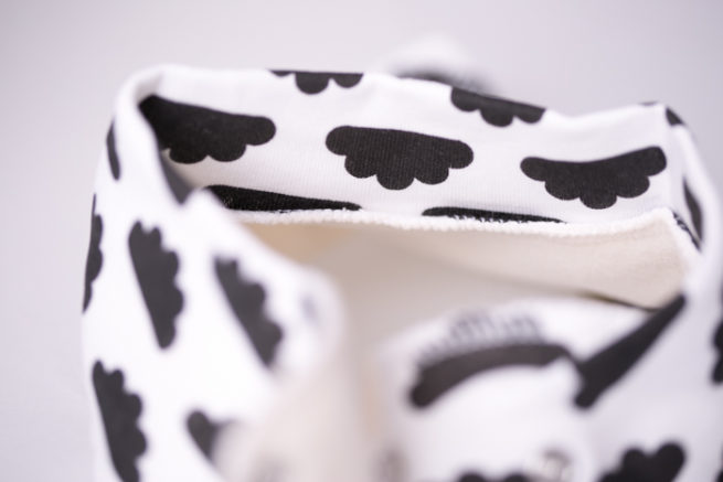 Monochrome clouds bandana bib