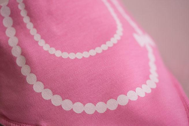 girlie pearls bandana bib