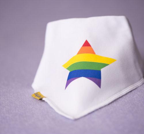 Rainbow pride equality LGBT bandana bib