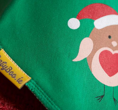 Merry robin Christmas bandana bib