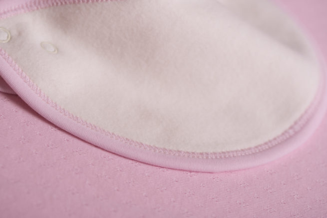 Pink little boo newborn bib