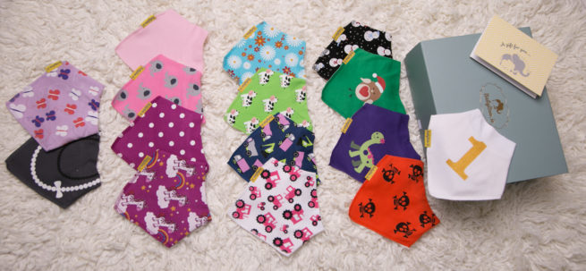 A year of bibs gift box girl bundle