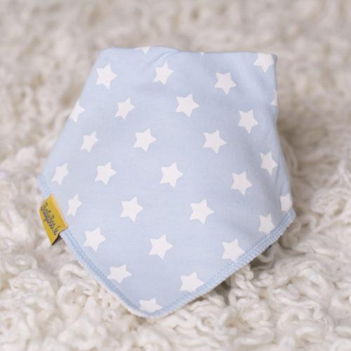 Baby blue stars bandana bib