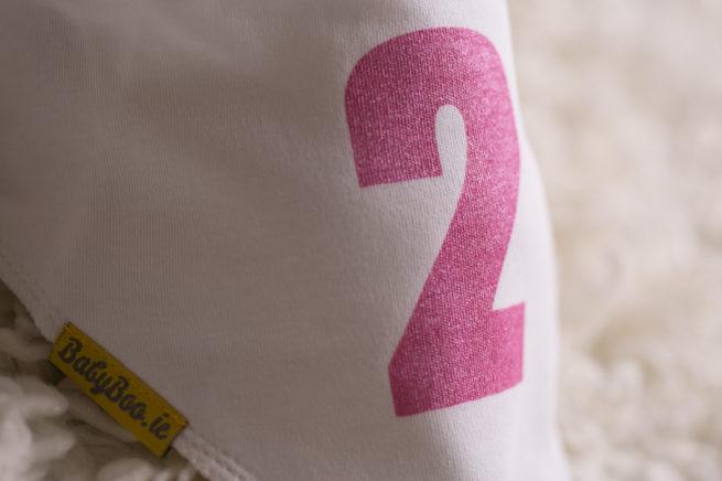 Pink glitter 2 bandana bib