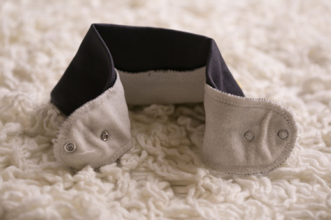 Just grey babyboo bandana bib