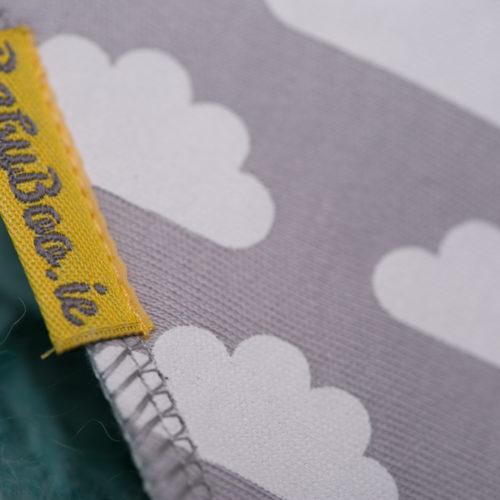 Grey clouds BabyBoo Bandana Bib