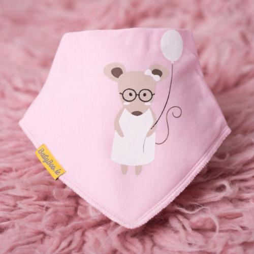 Pink Mouse BabyBoo Bandana Bib