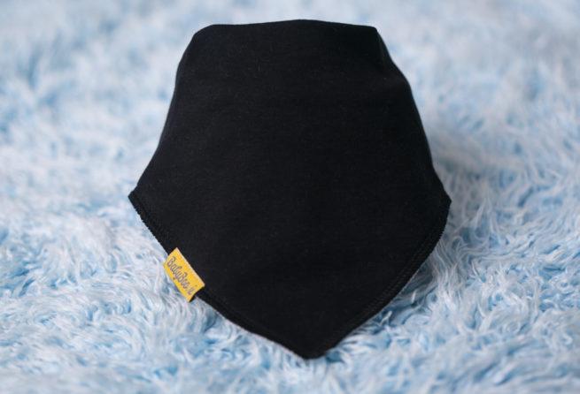 Plain Black BabyBoo Bandana Bib
