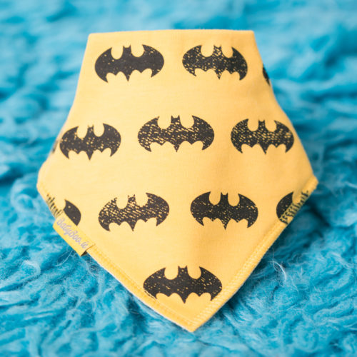 Yellow Batman BabyBoo Bandana Bib