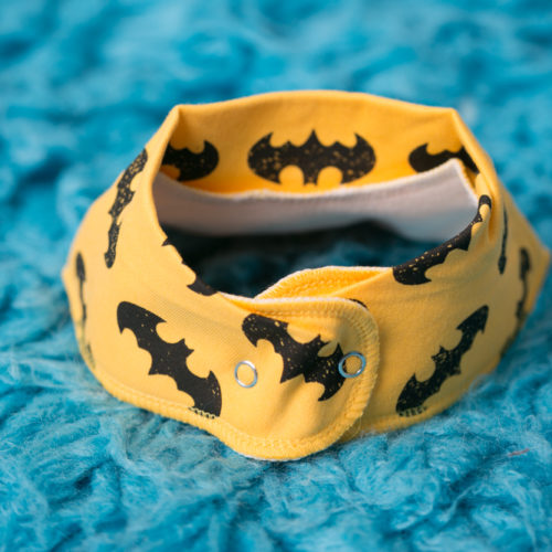 Yellow batman bandana bib