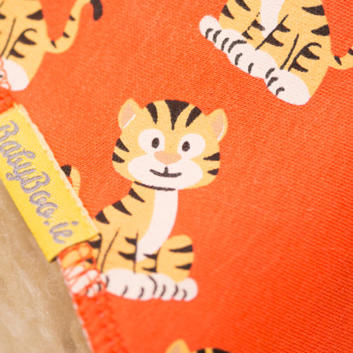 Orange tigers bandana bib