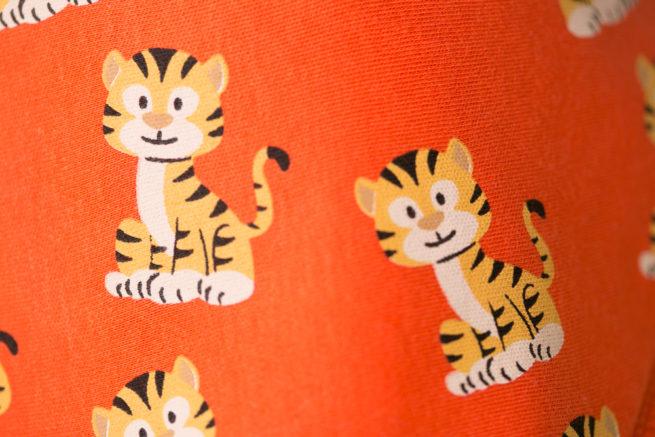 Orange tigers bandana bib