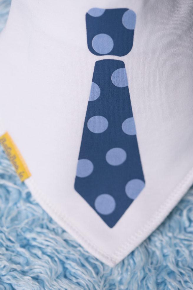 Blue Tie BabyBoo Bandana Bib