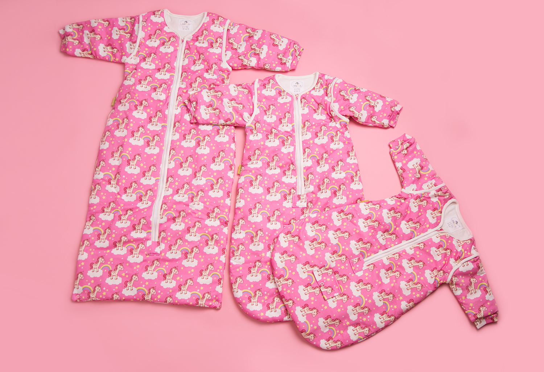 Magical Unicorns Organic Cotton Snuggleboo Sleeping Bag 2 5 Tog