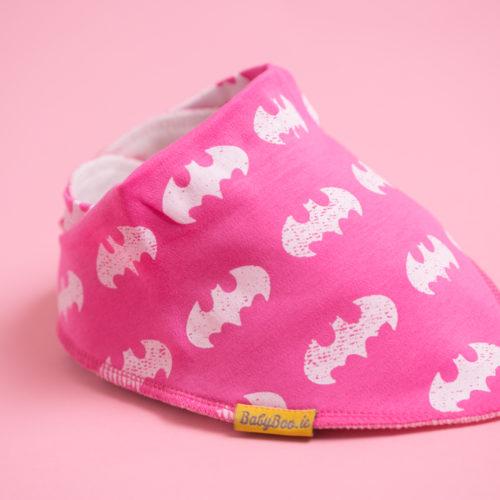 Pink Batman Bandana bib
