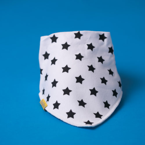 Black stars bandana bib