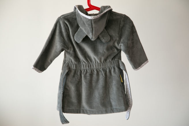 Grey ellie organic cotton robe