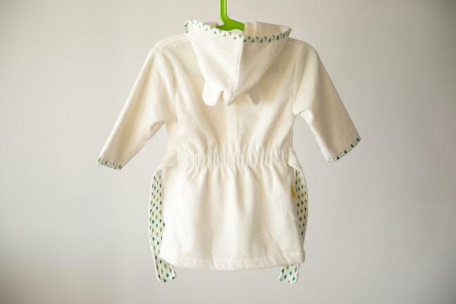Cream turtles organic cotton robe