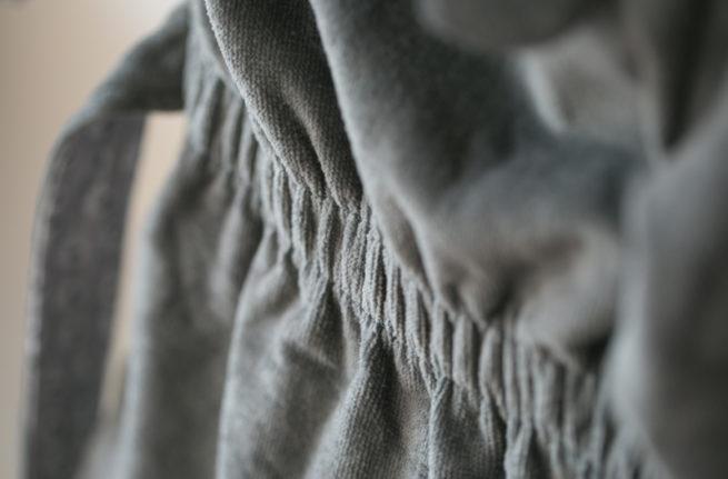 Grey ellie organic cotton robe - belt detail