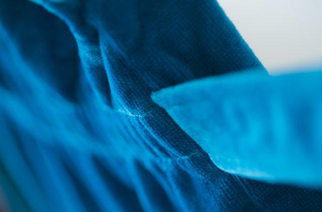 Teal stars organic cotton robe belt