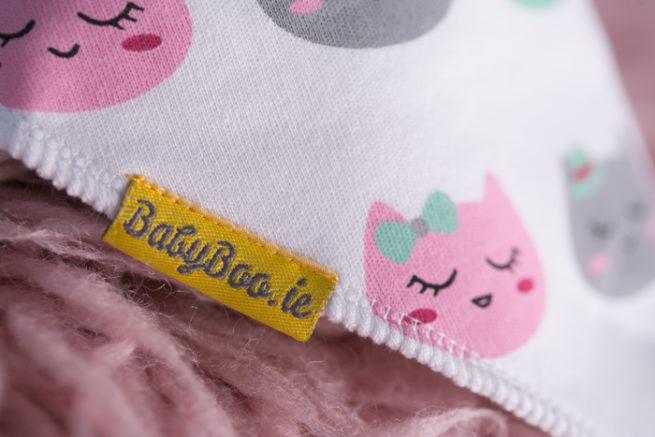 Cat print bandana bib