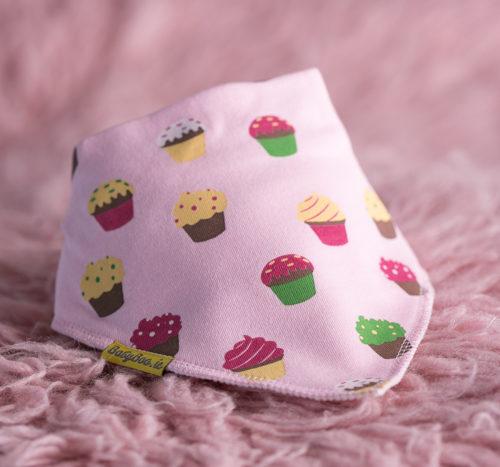 Cupcakes bandana bib