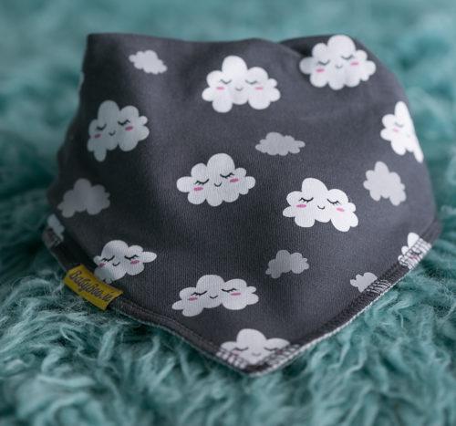 Sleepy clouds bandana bib