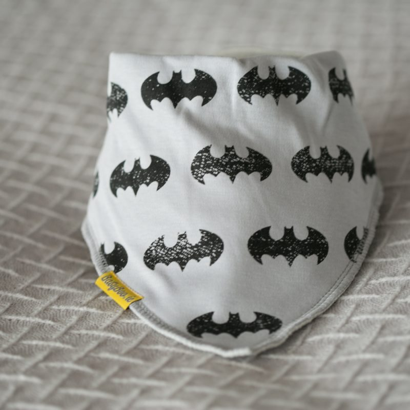 Grey batman bandana bib