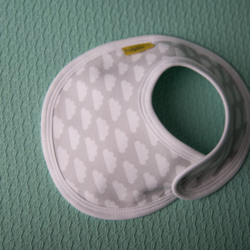 Grey clouds LittleBoo bib