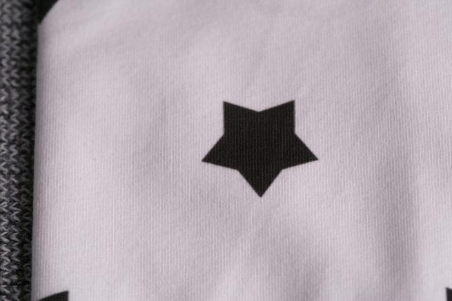 Monochrome stars baby hat